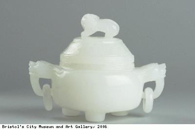Incense burner with lid