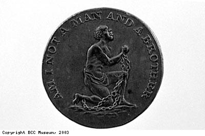 Kneeling slave logo of Abolition movement