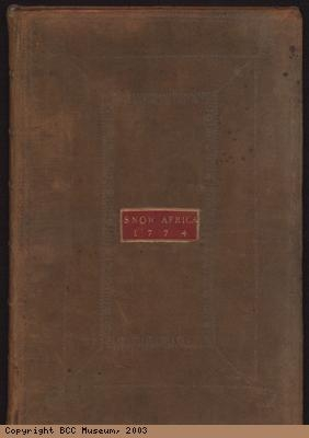 Account book of the slave ship Africa