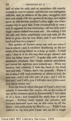 Account of former slave