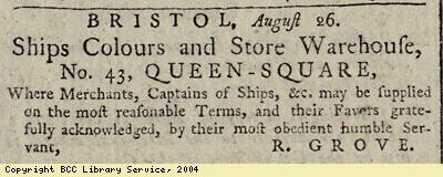Advert: ships colours and stores