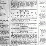 Advertisement, an estate for sale on Nevis