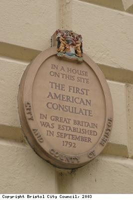 American Consulate building plaque