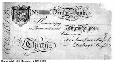 Bristol Bank note