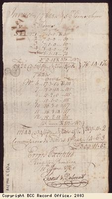 Bill of lading for sugar