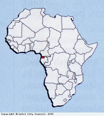 Map showing location of Bioko