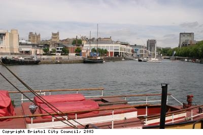 Bristol cathedral and harbour