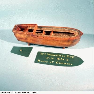 Model of Liverpool slave ship the Brookes