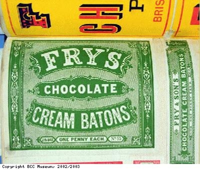 Wrapper, Frys Chocolate Cream Batons
