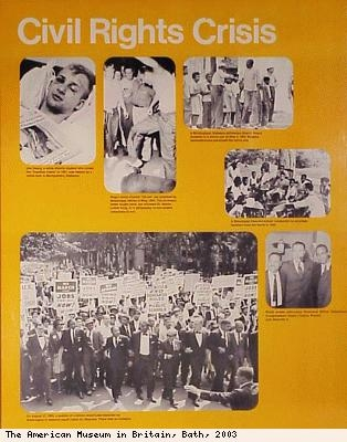 Civil Rights crisis poster