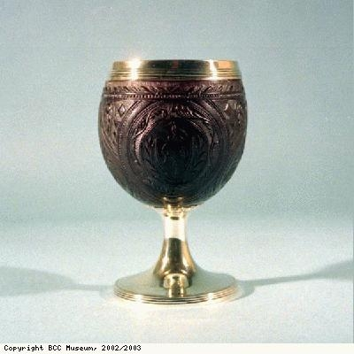 Coconut cup with Tobin family arms
