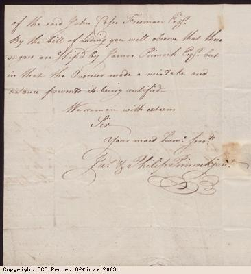J and P Pinnock correspondence to S Munckley