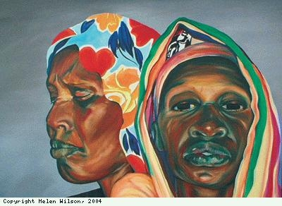 Detail, Four Avega Women, by Helen Wilson