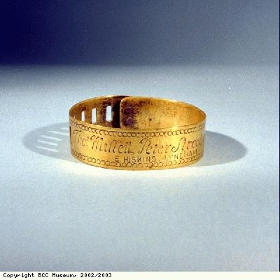 Dog collar, inscribed Thos Millett