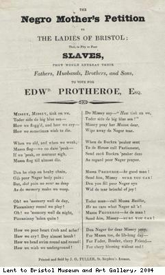 Election handbill for Edward Protheroe