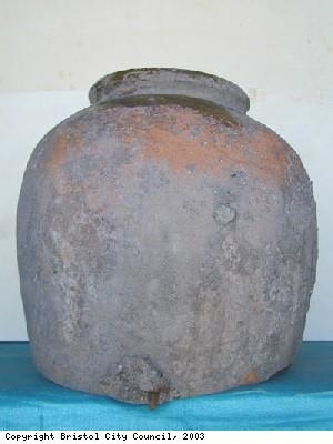 Storage jar excavated on Nevis