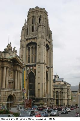 The Wills Memorial building, Bristol University