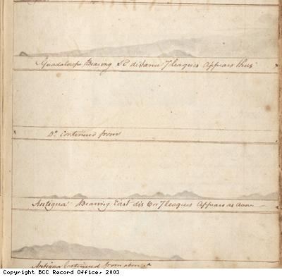 Illustrated page from Lloyd log book