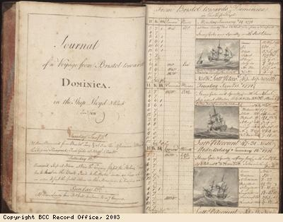 Page from log book of the Lloyd slave ship