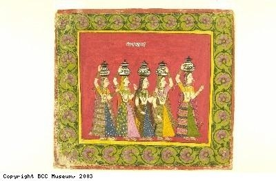 Indian painting, showing Gujarati women