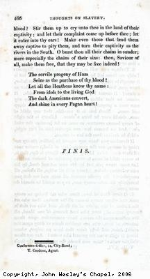 John Wesley's Thoughts Upon Slavery
