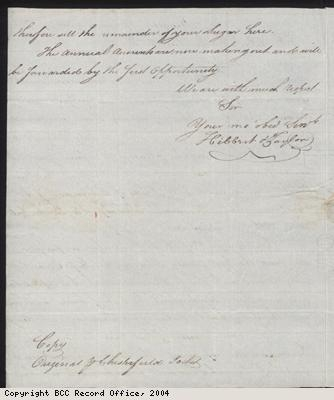Letter regarding the freeing of slaves