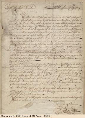 Letter to captain re purchase of slaves