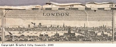 London, from John Speed's map