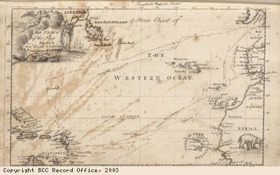Map from the log book of the Lloyd ship