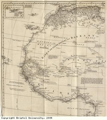 Map of North and West Africa