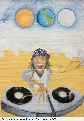 Mill Youth Centre, DJ mural