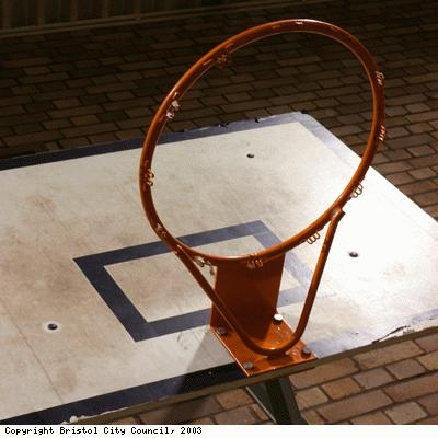 Mill Youth Centre, basketball hoop