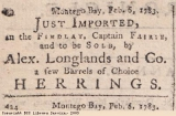 Newspaper extract, advert for herrings