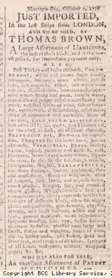 Newspaper extract, advert for medical goods
