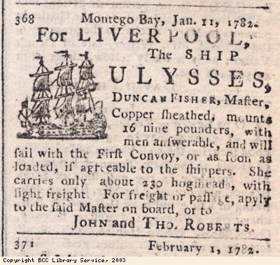 Newspaper extract, departure of ship