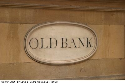 Old bank plaque outside Nat West Bristol