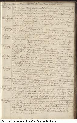 Page 139 of log book of Black Prince
