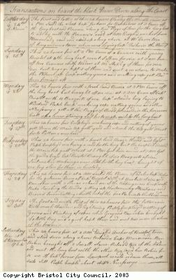 Page 141 of log book of Black Prince