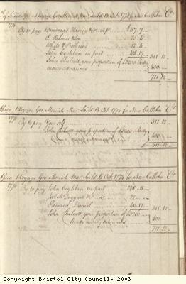 Page 21 from log book of ship Africa