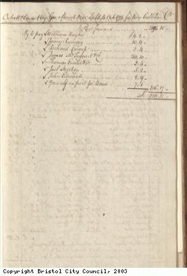 Page 25 from log book of ship Africa