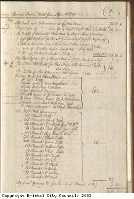 Page 27 from log book of ship Africa