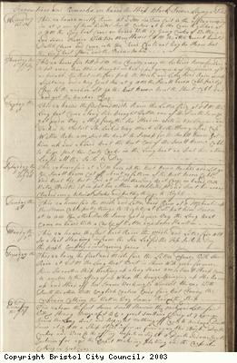 Page 31 of log book of Black Prince