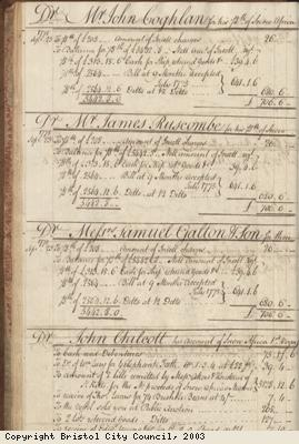 Page 32 from log book of ship Africa