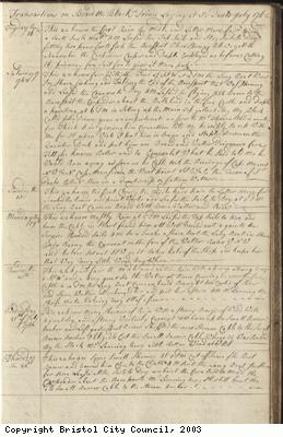 Page 33 of log book of Black Prince