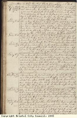 Page 34 of log book of Black Prince