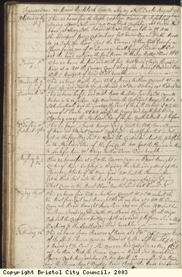 Page 36 of log book of Black Prince