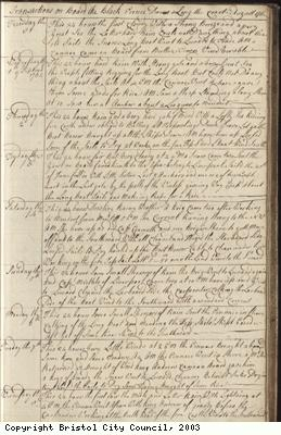 Page 39 of log book of Black Prince