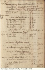 Page 3 from log book of ship Africa