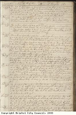 Page 3 of log book of Black Prince