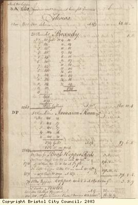 Page 40 from log book of ship Africa